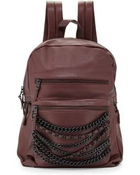 Ash   Domino Chain Large Leather Backpack   Lyst