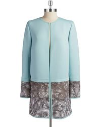 T Tahari Larissa Long Coat - Lyst
