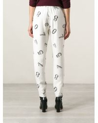 See By Chloé Loosefit Number Print Trousers - Lyst