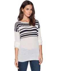 Vince Varigated Stripe Sweater - Lyst