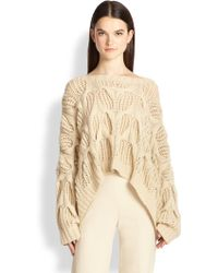 Donna Karan New York Oversized Open-Knit Cashmere Sweater - Lyst