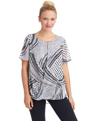 Philosophy Wrap Front Patterned Top - Lyst