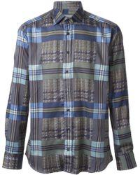 Etro Check Pattern Shirt - Lyst