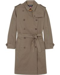 Sophie Hulme Gold Chain Trench Coat - Lyst