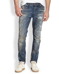 Diesel Tepphar Distressed Jeans - Lyst