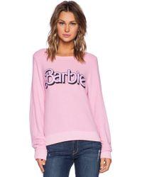 Wildfox Barbie Baggy Beach Jumper - Lyst