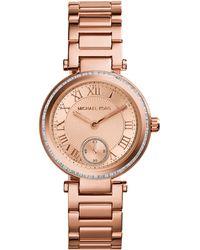 Michael Kors Women'S Mini Skylar Rose Gold-Tone Stainless Steel Bracelet Watch 33Mm Mk5971 - Lyst