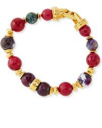 Jose & Maria Barrera Deep Red Single Strand Bracelet - Lyst