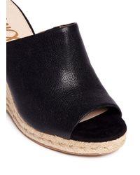 Sam Edelman | 'bonnie' Leather Espadrille Wedge Mule Sandals | Lyst