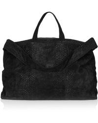 TOPSHOP - Suede Embossed Snake Luggage Bag - Lyst