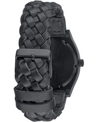Nixon Woven Black Time Teller Watch - Lyst