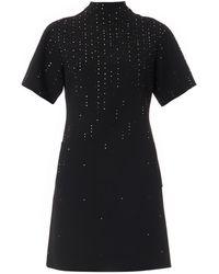 Christopher Kane Crystal-embellished Wool-crepe Dress - Lyst
