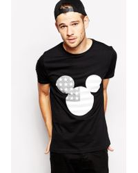 Asos T-Shirt With Mickey Mouse Flag Print - Lyst