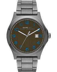 Marc By Marc Jacobs - Mens Jimmy Gunmetal-Tone Stainless Steel Link Bracelet Watch - Lyst