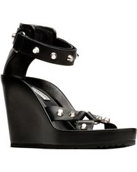 Balenciaga Strap Wedge Sandals - Lyst