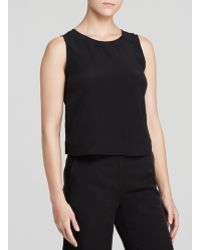 Eileen Fisher Petites Cropped Silk Shell - Lyst