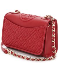 Tory Burch Fleming Mini Bag - Acai Redtory Red - Lyst