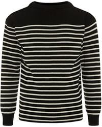 Saint Laurent Breton Stripe Sweater - Lyst
