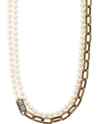 Lanvin - 22 Faubourg: Alice Long Pearl Necklace - Lyst