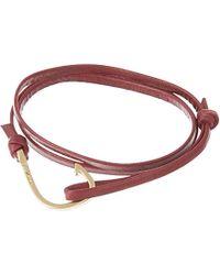 Miansai Matte Hook Leather Bracelet - For Men - Lyst