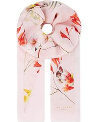 Ted Baker Botanical Bloom Split Scarf Pink - Lyst