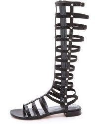 Stuart Weitzman Gladiator Sandals - Black - Lyst