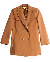 Paul & Joe Short Trench Coat brown - Lyst