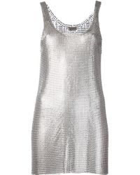 Paco Rabanne Mesh Dress - Lyst
