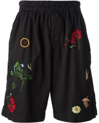 Bernhard Willhelm Embroidered Cord Shorts - Lyst