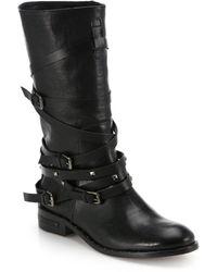 Frēda Salvador Ride Leather Boots - Lyst