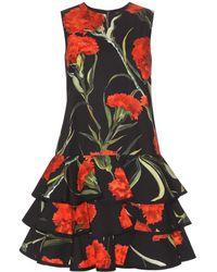 Dolce & Gabbana Floral-Printed Cotton Dress - Lyst