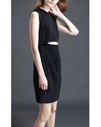 Public School Cut Out Dress Black - Lyst