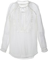 Chloé Layered Mesh Blouse - Lyst