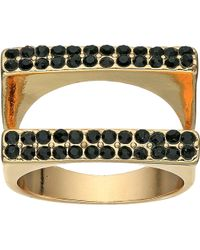 Guess - Double Bar Ring - Lyst