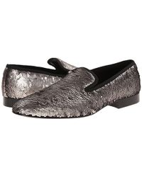 Doucal's Gray Sequin Loafer - Lyst