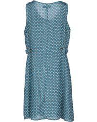 Cutie Green Short Dress - Lyst