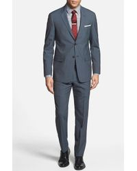 Todd Snyder Men'S Big & Tall Trim Fit Stripe Wool Suit - Lyst