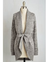 ModCloth | Adventure And Splendor Cardigan In Ash | Lyst