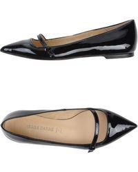 Pierre Darre' Black Ballet Flats - Lyst