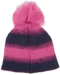 House of Holland - New Era Sequined Knitted Bobble Hat - Lyst