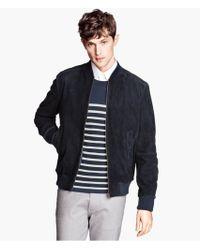 H&M Suede Jacket - Lyst