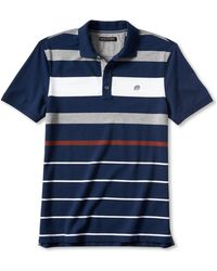 Banana Republic Allover Stripe Pique Polo - Lyst