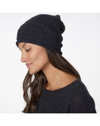 James Perse - Cashmere Cable Knit Beanie - Lyst
