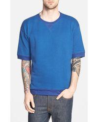 Diesel 'Lurp' Short Sleeve Crewneck Sweatshirt blue - Lyst