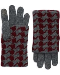 Portolano Houndstooth Fold Over Gloves - Lyst