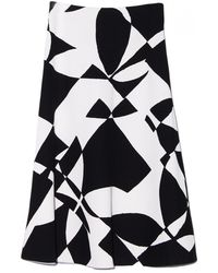 By Malene Birger Costania Printed Skirt - Lyst