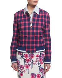 Tanya Taylor - Bree Checked Cotton-blend Jacket - Lyst
