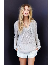 Kimchi Blue - Pointelle Boxy Sweater - Lyst