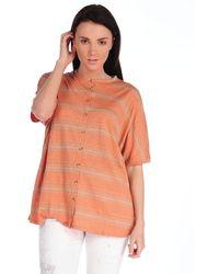 Suss Janae Cocoon Cardigan orange - Lyst