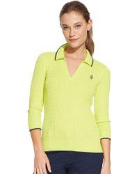 Lauren by Ralph Lauren Cable-Knit Cotton Sweater - Lyst